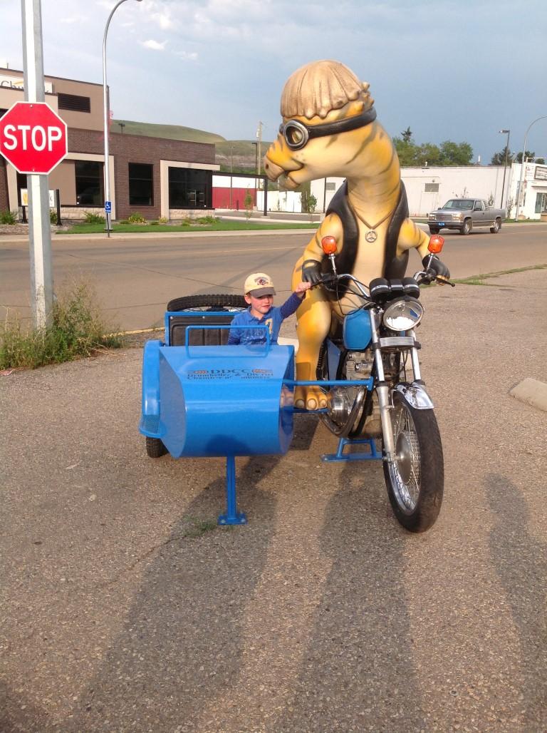 motorcycle dinosaur
